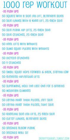 1000 rep workout
