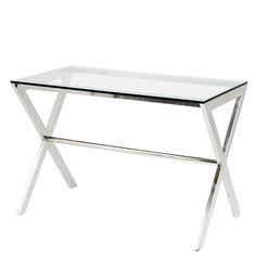 Der Schreibtisch Criss Cross aus dem Hause Eichholtz. Als Bestandteil einer der essentiellen Evergreen- Kollektionen von exklusiven Metallmöbeln trägt dieser Desk die Gene in sich, die der Serie zu so dauerhaftem Erfolg verholfen haben:...