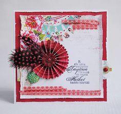 Feather card by Anski