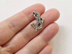 10 Dancing Skeletons Charms - Skeletons - Pendants - #S0229 by StashofCharms on Etsy