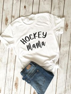 Hockey Mom Shirt Hockey Mama Shirt Team Mom Gift Hockey
