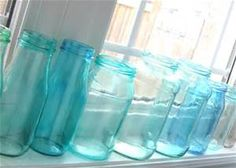 Potes de vidro. Pote de conserva. Pintados com verniz vitral