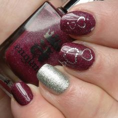 #aengland Let Me In & #opi This Gown Needs a Crown with #decals