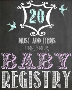 Twenty GREAT Baby Items That No Registry Should Be Without from Wine & Glue - everything on here (save 1 or 2 things) is going on my list.