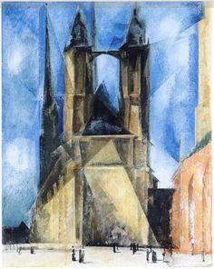 Church in Halle, 1930 by Lyonel Feininger