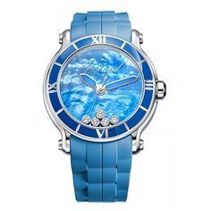 CHOPARD - HAPPY SPORT XL BLUE LAKE For more details follow the link: http://www.luxurysouq.com/watches/Chopard/Chopard%20-%20Happy%20Sport%20XL%20Blue%20Lake?limit=100