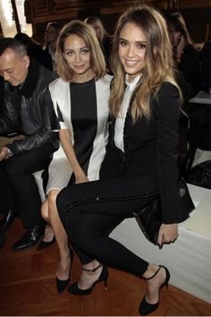 The best of front row at Paris fashion week: Nicole Richie and Jessica Alba front row at Stella McCartney A/W 2013.