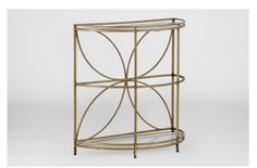 Set of 2 Baggett Demilume console tables. Perfect pieces to have accent any hallway, or entry way. We are crazy of the quatrefoil flower petal design.