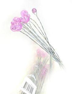Restposten: Ideal für Dekorationen 240 Perlen am Draht in Pink, 2 Größen
