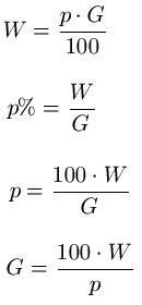 Prozentrechnung Gleichungen