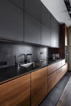 53 Favorite Modern Kitchen Design Ideas To Inspire. When it comes to designing the modern kitchen, people typically take one of two design paths. The first path uses modern art as inspiration to creat. Kitchen Room Design, Kitchen Cabinet Design, Kitchen Layout, Home Decor Kitchen, Interior Design Kitchen, Kitchen Ideas, Kitchen Colors, Kitchen Trends, Ikea Kitchen