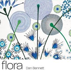 dan bennett is an artist based in brighton who creates intricate swirling patterns that take on the form of florals.