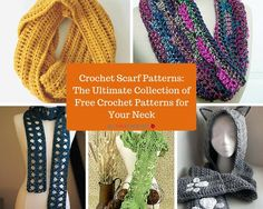 178 Crochet Scarf Patterns: The Ultimate Collection of Free Crochet Patterns for Your Neck   AllFreeCrochet.com