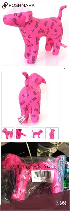 Victoria's Secret Pink Large Mini Rare Dog BRAND NEW WITH TAGS! No Trades! No Low Balls! Make an offer Through POSH. Reasonable Offers only. Victoria's Secret Other