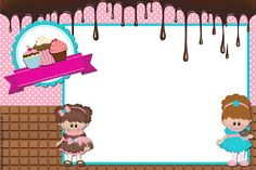"Kit de Personalizados Tema Festa ""Cupcake"" para Imprimir - Convites Digitais Simples"