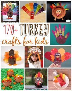 Over 170 Turkey Crafts for Kids to Make