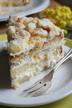 Torta Mimosa traditional italian cake