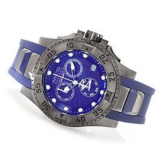 Invicta Reserve 40mm or 50mm Excursion Swiss Made Chronograph Strap Watch w/ Three Slot Dive Case
