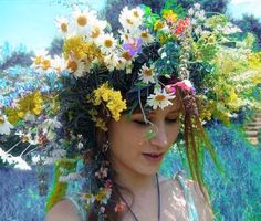 ❀ Flower Maiden Fantasy ❀ beautiful art fashion photography of women and flowers - summer wildflower crown