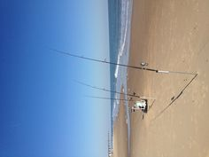 All set up for the day Nov 2012 #surffishing
