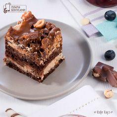 Карамельно-ореховое пирожное #десерты