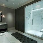 Michael Abrams - bathrooms - calcutta gold marble, calcutta gold marble counters, calcutta gold marble floor tile