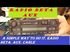 VOLKSWAGEN BETA VWZ1Z2 radio AUX, a simple way to do it. radio beta. AUX. cable - YouTube Radio Code, Simple Way, Volkswagen, Cable, Youtube, Cabo, Electrical Cable, Youtubers, Youtube Movies