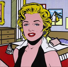 Roy Lichtenstein - Marylin MonroeFosterginger.Pinterest.ComMore Pins Like This One At FOSTERGINGER @ PINTEREST No Pin Limitsでこのようなピンがいっぱいになるピンの限界