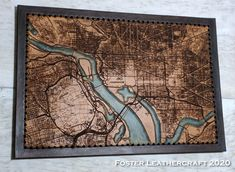 Washington Dc Map, Scale Map, Unique Gifts, Best Gifts, Third Anniversary, Custom Map, Leather Craft, The Fosters, Hand Carved