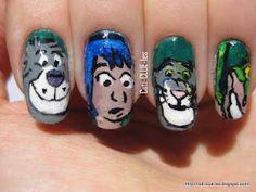 Summer challenge- Jungle theme- The jungle book nail art