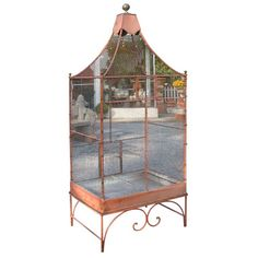 Shop bird cages and other antique and vintage collectibles from the world's best furniture dealers. Global shipping available. Vintage Furniture Design, Cool Furniture, Victorian Greenhouses, Large Bird Cages, Atlanta Homes, Animal Design, Birdcages, Bird Houses, French Antiques
