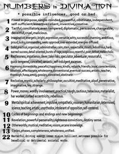 Number in Divination.words from Grimiore of the Green Witch.MY Opalraines Production. - Pinned by The Mystic's Emporium on Etsy Numerology Numbers, Numerology Chart, Numerology Calculation, Magick Spells, Witchcraft Symbols, Wiccan Witch, Impatience, Eclectic Witch, Tarot Learning