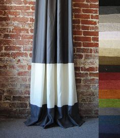 Custom lined drapes for a modern baby room! You get to choose your own colors....many to choose from.