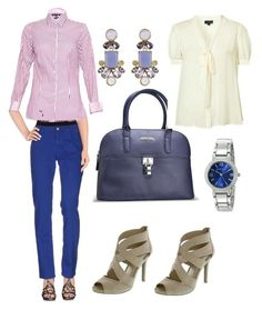 """Office Outfit"" by closetdemiamiga ❤ liked on Polyvore featuring Tru Trussardi, Tommy Hilfiger, Kate Spade and Anne Klein"