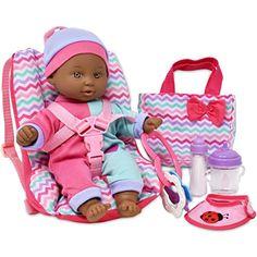Baby Dolls For Kids, Black Baby Dolls, Black Babies, Baby Doll Car Seat, Baby Car Seats, Barbie Food, Baby Alive Dolls, Lol Dolls, Girl Birthday