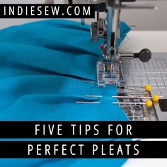 Pleats are a modern alternative to fabric gathers! See our five steps for making them perfect, every time.