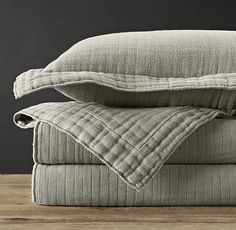 TRIPLE GAUZE COTTON COVERLET - I like the grey. Darker would be nice though.