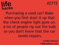 Improve your life one hack at a time. 1000 Life Hacks, DIYs, tips, tricks and More. Start living life to the fullest! Car Cleaning Hacks, Car Hacks, Simple Life Hacks, Useful Life Hacks, 1000 Lifehacks, Ideas Prácticas, Gift Ideas, Tips & Tricks, Thats The Way