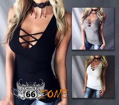 Gender: Women Season: Summer Occasion: Casual Material: Cotton Lycra Decoration: None Clothing Length: Regular Pattern Type: Solid Sleeve Style: Regular Style: Womens Motorcycle Fashion, Biker Chick, What I Wore, Sleeve Styles, Camisole, Motorcycle Gear, Tank Tops, Casual, Cotton