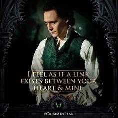Crimson Peak movie with Tom Hiddleston.