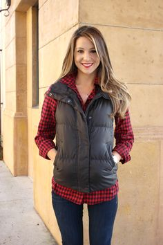 Color Me Plaid: Black and Red Gingham Fall Look