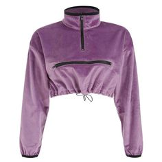 Suede Zipper Drawstring Waist Slimming Navel Hooded 2019 Spring Street Wear Turn-Down Collar Solid Full Length Tops Purple Tumblr Outfits, Grunge Outfits, Kpop Outfits, Dance Outfits, Grunge Style, Ulzzang, Ballet Clothes, Colorful Hoodies, Studios