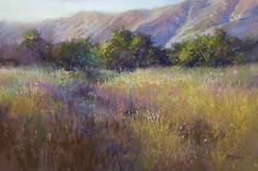 The Field Aglow by Richard McKinley Pastel ~ 12 x 18
