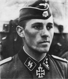 Obersturmführer Fritz Rentrop from 2nd SS Das Reich Division who won the Knight's Crossin October 1941