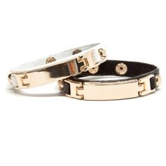 Last one! Black faux leather id bracelet Faux leather and base metals. Measures approx 8.5 in. Wear alone or stacked with other bracelets! T&J Designs Jewelry Bracelets