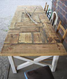 Esstische - Tisch im Landhaus-Stil aus Bauholz Liv 250x100 cm - ein Designerstück von FraaiBerlin bei DaWanda