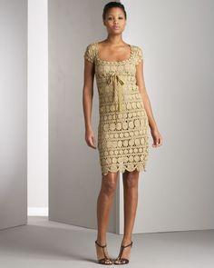 'Golden Coins' crochet dress