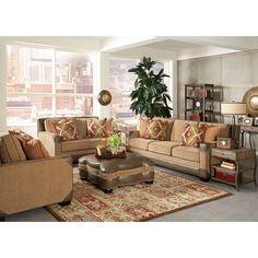 Stationary Caramel Living Room Group | Brianu0027s Furniture