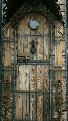 Celtic wood door. - by Nicole Lee