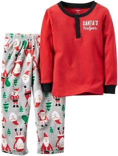 2019 New Style Carters Christmas Santa Clause Girls 2 Piece Pajamas Sleepwear Size 18 M Nwt Sale Overall Discount 50-70% Clothing, Shoes & Accessories
